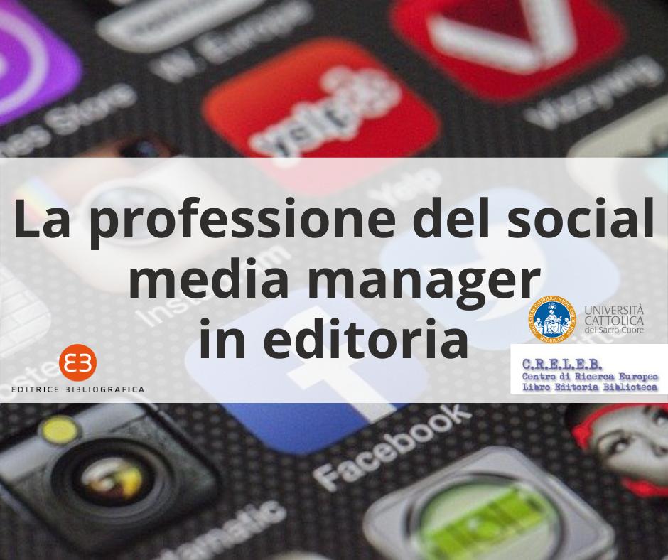 La professione del social media manager in editoria
